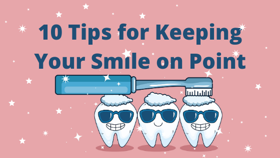 cartoon teeth smiling with sunglasses blue toothbrush